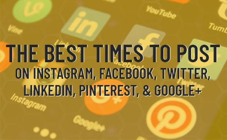 The Best Times to Post on Instagram, Facebook, Twitter, LinkedIn, Pinterest, and Google+ [Infographic]