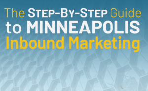 "text overlaid a blue background that says ""the step-by-step guide to minneapolis inbound marketing"""