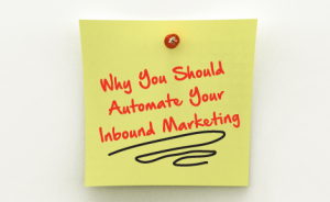 "a post-it note with text that says ""Why You Should Automate Your Inbound Marketing"""