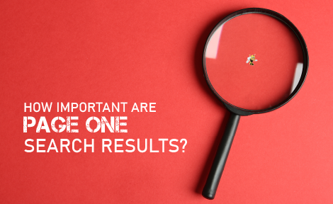 How Important are Page One Search Results?